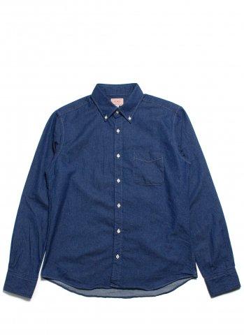 BIG MIKE INDIGO TWILL BD SHIRTS ビッグマイク インディゴツイル BDシャツ ライトネイビー