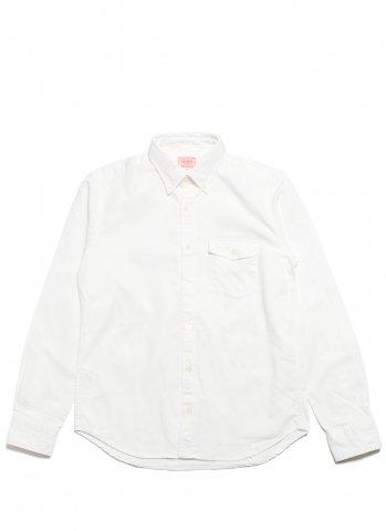 BIG MIKE OX FLAP BD SHIRTS ビッグマイク オックス BDシャツ ホワイト