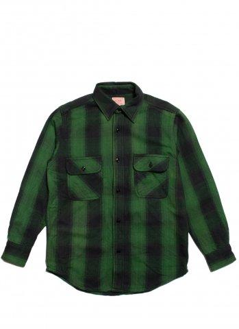 BIG MIKE HEAVY FLANNEL SHIRTS ビッグマイク ヘビー フランネルシャツ グリーン×ブラック
