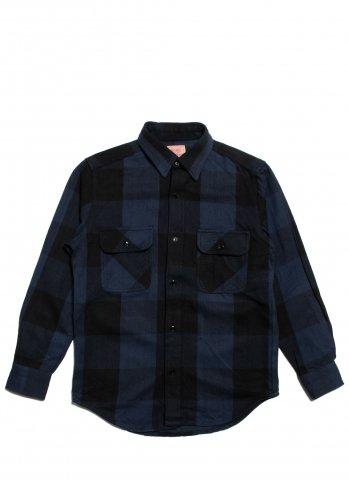 BIG MIKE HEAVY FLANNEL SHIRTS ビッグマイク ヘビー フランネルシャツ ブルー×ブラック