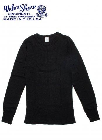 Velva Sheen 1PAC L/S SLUB THERMAL サーマル ロングスリーブ シャツ アメリカ製 161462 ブラック