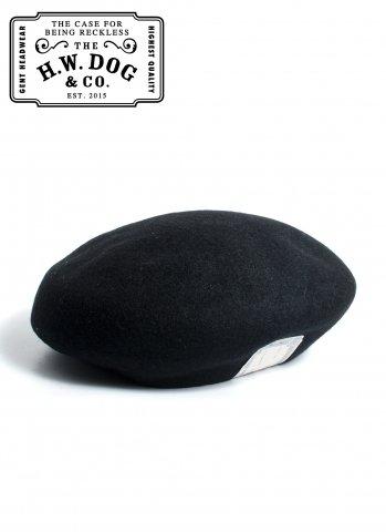 THE H.W.DOG&CO. BERET ドッグアンドコー ウール ベレー帽 D-00022 ブラック