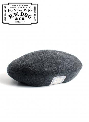 THE H.W.DOG&CO. BERET ドッグアンドコー ウール ベレー帽 D-00022 チャコールグレー