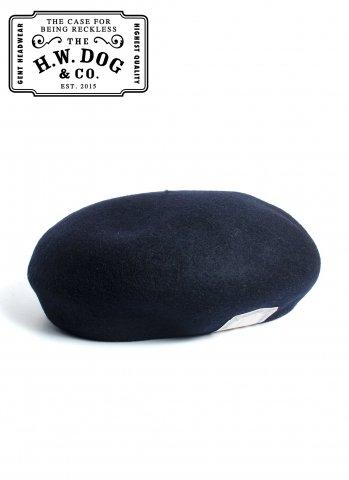 THE H.W.DOG&CO. BERET ドッグアンドコー ウール ベレー帽 D-00022 ネイビー