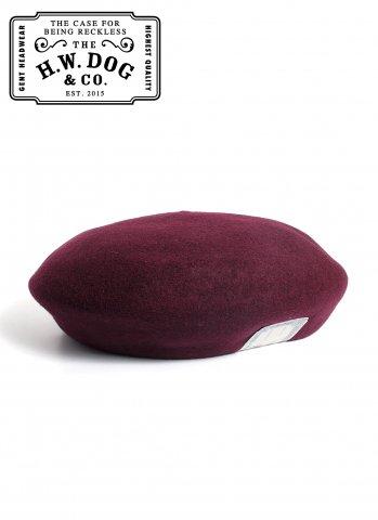 THE H.W.DOG&CO. BERET ドッグアンドコー ウール ベレー帽 D-00022 ワイン