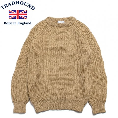TRADHOUND トラッドハウンド アルパカ ウール クルーネックセーター イギリス製 キャメル
