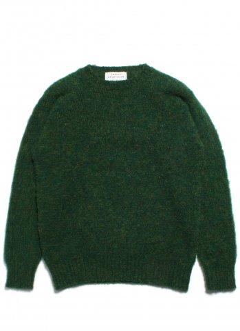 JAMES CHARLOTTE ジェームスシャルロット シェットランドウール セーター シャギードッグ スコットランド製 グリーン