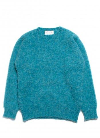 JAMES CHARLOTTE ジェームスシャルロット シェットランドウール セーター シャギードッグ スコットランド製 ブルー