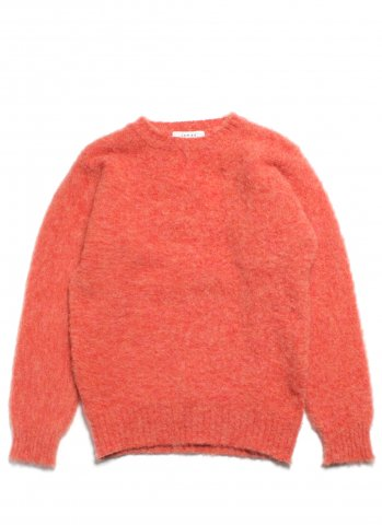 JAMES CHARLOTTE ジェームスシャルロット シェットランドウール セーター シャギードッグ スコットランド製 ピンク