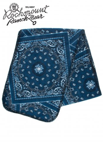 Rockmount Ranch Wear Bandana Print Fleece Scarf ロックマウント フリースマフラー バンダナ柄 アメリカ製 1055-BLU