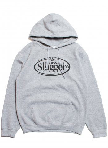 Louisville Slugger Oval Logo Hooded Sweat ルイス ビル スラッガー オーバルロゴ スウェットパーカー グレー