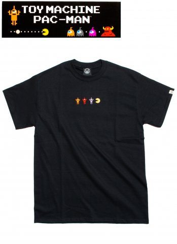 toy machine トイマシーン PACMAN GAMEOVER SECT EMB SST パックマン 半袖 Tシャツ PTM19ST01 ブラック