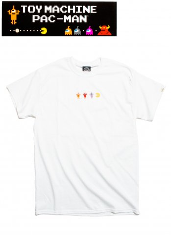 toy machine トイマシーン PACMAN GAMEOVER SECT EMB SST パックマン 半袖 Tシャツ PTM19ST01 ホワイト