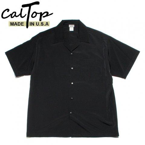 CalTop キャルトップ オープンカラーシャツ 半袖 #3003 アメリカ製 ブラック