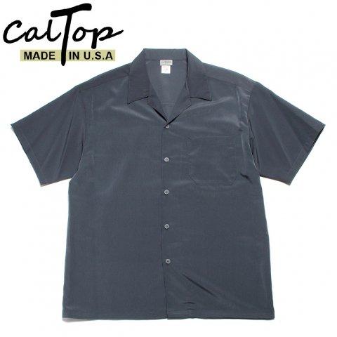 CalTop キャルトップ オープンカラーシャツ 半袖 #3003 アメリカ製 チャコール