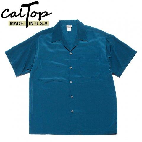 CalTop キャルトップ オープンカラーシャツ 半袖 #3003 アメリカ製 ブルー