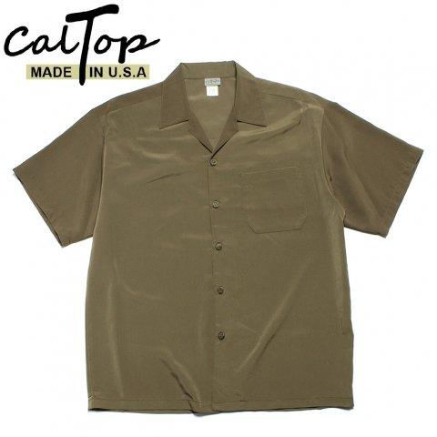 CalTop キャルトップ オープンカラーシャツ 半袖 #3003 アメリカ製 ベージュ