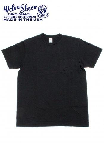 Velva Sheen ベルバシーン ポケット付き クルーネック Tシャツ 限定カラー アメリカ製 ブラック