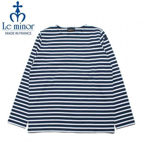 Le minor ルミノア ボーダー バスクシャツ 長袖 フランス製 ネイビー/ホワイト