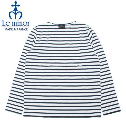Le minor ルミノア ボーダー バスクシャツ 長袖 フランス製 ホワイト/ネイビー