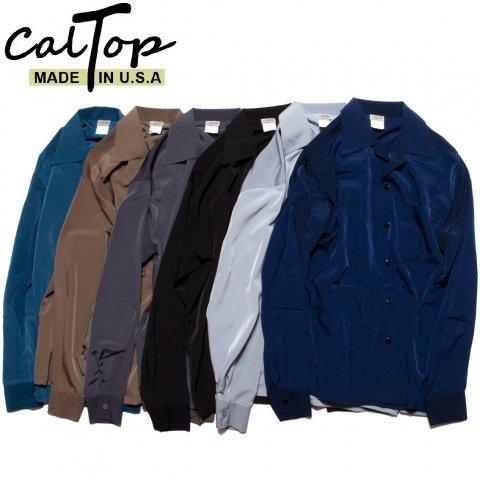 CalTop キャルトップ オープンカラーシャツ 長袖 #3003 アメリカ製 ブラック