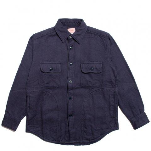 BIG MIKE HEAVY FLANNEL SHIRTS JACKET ビッグマイク ヘビー フランネルシャツ ジャケット ネイビー