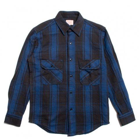 BIG MIKE HEAVY FLANNEL SHIRTS ビッグマイク ヘビー フランネルシャツ ブルー/ブラック