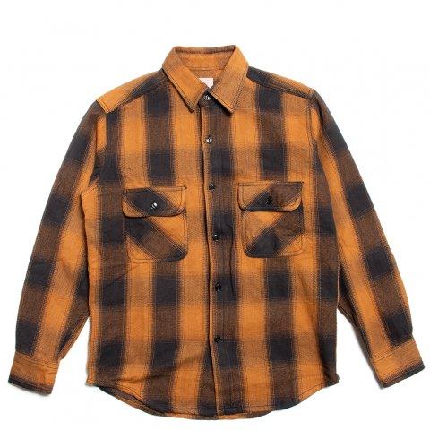 BIG MIKE HEAVY FLANNEL SHIRTS ビッグマイク ヘビー フランネルシャツ ブラウン/ブラック