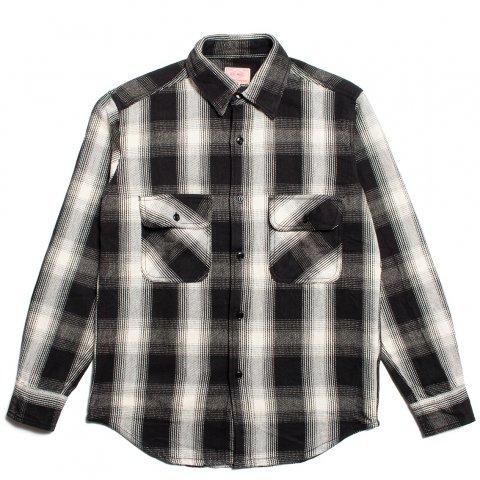 BIG MIKE HEAVY FLANNEL SHIRTS ビッグマイク ヘビー フランネルシャツ ブラック/ホワイト