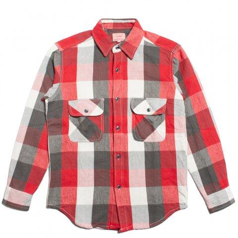 BIG MIKE HEAVY FLANNEL SHIRTS ビッグマイク ヘビー フランネルシャツ レッド/ホワイト