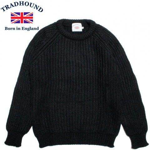 TRADHOUND トラッドハウンド アルパカ ウール クルーネックセーター イギリス製 ブラック