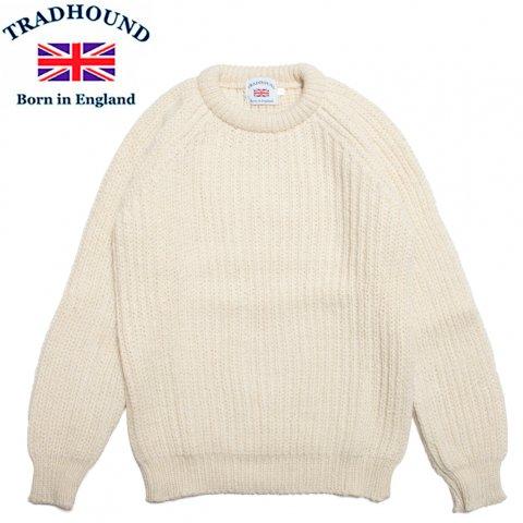 TRADHOUND トラッドハウンド アルパカ ウール クルーネックセーター イギリス製 アラン