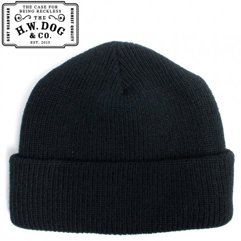 THE H.W.DOG&CO. D WATCH 90S ドッグアンドコー ニットキャップ ウール D-00349 ブラック