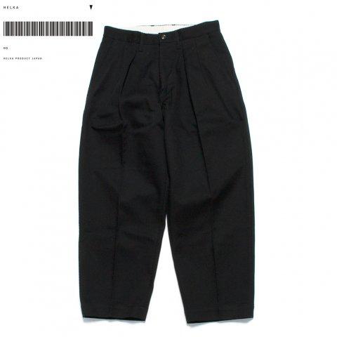 HELKA ヘルカ トラウザー パンツ カルゼ素材 TROUSERS03-A 日本製 ブラック