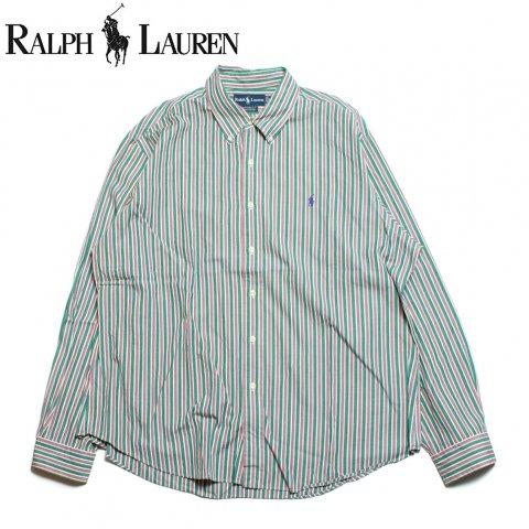 ラルフローレン Ralph Lauren 長袖 ボタンダウン ストライプシャツ (USED)