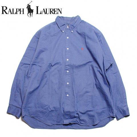 ラルフローレン Ralph Lauren 長袖 ボタンダウンシャツ ブルー (USED)