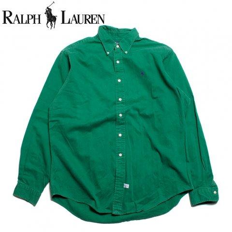 ラルフローレン Ralph Lauren 長袖 ボタンダウンシャツ グリーン (USED)