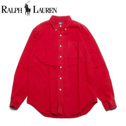 ラルフローレン Ralph Lauren 長袖 ボタンダウンシャツ クラシックフィット レッド (USED)
