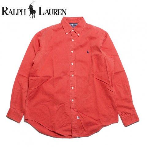 ラルフローレン Ralph Lauren 長袖 ボタンダウンシャツ レッド (USED)