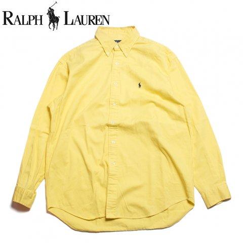 ラルフローレン Ralph Lauren 長袖 ボタンダウンシャツ イエロー (USED)