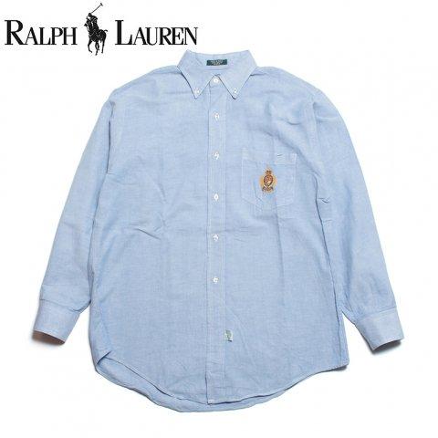 ラルフローレン Ralph Lauren ボーイズ ボタンダウン オックスフォード シャツ アメリカ製 (USED)