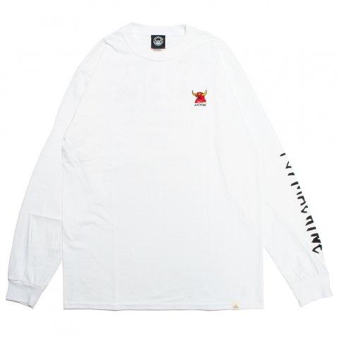 toy machine トイマシーン MONSTER MARKED EMBRO LONG TEE 刺繍 モンスターマーク ロング Tシャツ TMP20LT2 ホワイト