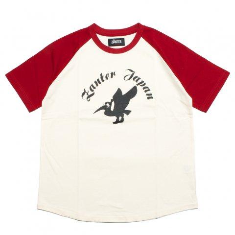 ZANTER ザンター ZJ ラグラン 半袖Tシャツ 日本製 レッド