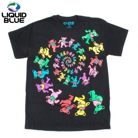 LIQUID BLUE グレイトフルデッド Tシャツ ダンシング・ベア リキッドブルー Spiral Bears Blacklight