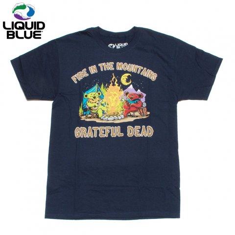 LIQUID BLUE グレイトフルデッド Tシャツ ダンシング・ベア リキッドブルー Fire In The Mountain