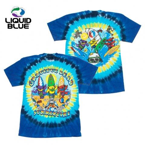 LIQUID BLUE グレイトフルデッド タイダイ Tシャツ リキッドブルー バックプリント Beach Bear Bingo