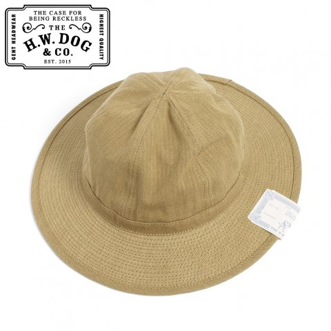 THE H.W.DOG&CO. FATIGUE HAT ドッグアンドコー ファティーグハット D-00395 ブラウン