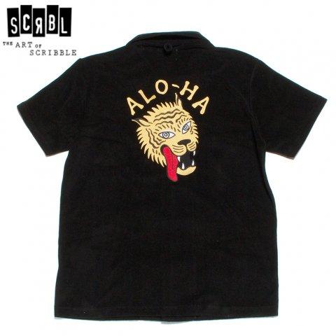 THE ART OF SCRIBBLE アートオブスクリブル パイルシャツ 半袖 オープンカラー タイガー刺繍