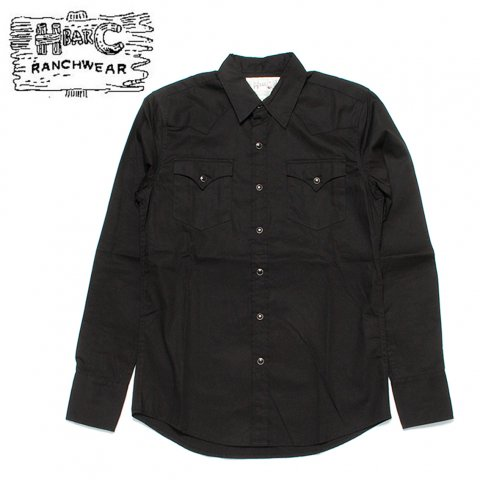 H BAR C エイチバーシー ウエスタンシャツ パサデナ Pasadena USA製 ブラック