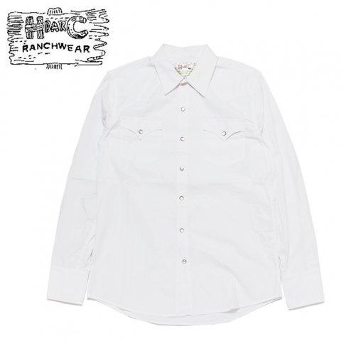H BAR C エイチバーシー ウエスタンシャツ パサデナ Pasadena USA製 ホワイト